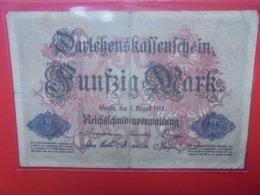Darlehnskassenschein :50 MARK 1914(B.1) - [ 2] 1871-1918 : Duitse Rijk