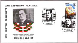 Primer Lehendakari De Euskadi J.ANTONIO DE AGUIRRE. Sestao, Pais Vasco, 1985 - Celebridades