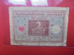 Darlehnskassenschein :2 MARK 1920 (B.1) - [ 3] 1918-1933 : República De Weimar