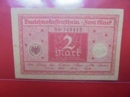 Darlehnskassenschein :2 MARK 1920 (B.1) - 2 Mark