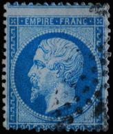 NAPOLEON III. .n°22.O. PIQUAGE DECALE IMPORTANT. - 1862 Napoléon III