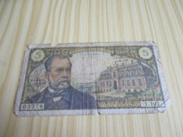 France.Billet 5 Francs Pasteur 05/06/1969. - 1962-1997 ''Francs''