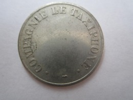 Jeton : Compagnie Le Taxiphone. Diamètre 25 Mm - Professionnels / De Société