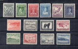CANADA - (1932-1938 - Province - NEWFOUNDLAND)  - 14 Valori - Nuovi - Linguellati - (FDC16845) - 1908-1947