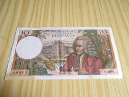 France.Billet 10 Francs Voltaire 02/08/1973. - 1962-1997 ''Francs''