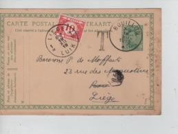 PR6987/ Entier CP Albert 5 C C.Bouillon18/12/19  Griffe T > Liège Taxé 10 C Par TTx 27 C.Liège 19/12/19 - Stamped Stationery