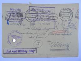 1945 Brief, Gerichtsvollzieher Amtsgericht Charlottenburg, An Das Oberkommando Des Heeres (OKH) In Döberitz - Briefe U. Dokumente