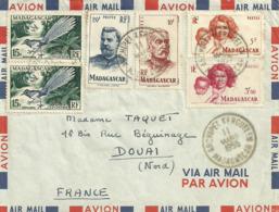 Luchtpostbrief Uit  Archipel Kerguelen Op 11 Mars 1955 - Madagascar (1960-...)