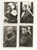 Photographie , Femmes ,folklore ,coiffes,  LOT DE 4 PHOTOGRAPHIES - Personnes Anonymes