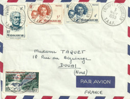 Luchtpostbrief Uit  Archipel Kerguelen Op 3 Nov 1955 - Madagaskar (1960-...)