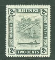 Brunei: 1947/51   Brunei River View   SG80     2c   Grey     MH - Brunei (...-1984)