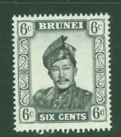 Brunei: 1964/72   Sultan Omar Saifuddin  SG122   6c   Black & Grey  MNH - Brunei (...-1984)