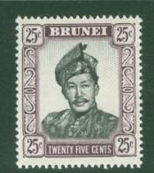Brunei: 1964/72   Sultan Omar Saifuddin  SG127   25c    MNH - Brunei (...-1984)