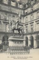 CARTE POSTALE ORIGINALE ANCIENNE : PARIS LA STATUE DE JEANNE D'ARC PLACE DES PYRAMIDES ANIMEE PARIS (75) - Statues