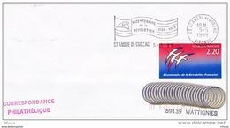 L4L032 FRANCE 1989 Secap Bicentenaire De La Révolution 33 St André De Cubzac 05 05 1989 /env.  YvT 2560 - Storia Postale