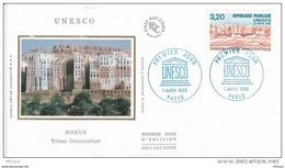L4L163 France 1990 FDC UNESCO Shibam Yemen Democratique Paris 07 04 1990  / Env  Ill. - FDC