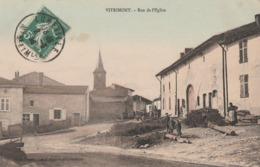 VITRIMONT - LA RUE DE L'EGLISE - BELLE CARTE ANIMEE - 2 SCANNS -  TOP !!! - Altri Comuni