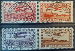 SARRE / SAARGEBIET 1934 - Canceled - Mi 195, 196, 197, 198 - Volksabstimmung 1935 - Gebraucht