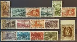 SARRE / SAARGEBIET 1934 - Canceled/MNH - Mi 179, 180, 181, 182, 183, 184, 185, 186, 187, 188, 189, 190, 191, 192, 194 - Gebraucht