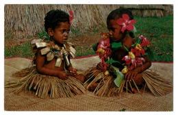 Ref 1328 - Fiji Ethnic Postcard - Children Nasilai Tropicana Resort - Pacific Islands - Fiji