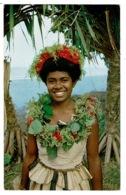 Ref 1328 - Fiji Ethnic Postcard - Hula Girl Nasilai Tropicana Resort - Pacific Islands - Fiji