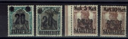 Sarre - 1921 - N° 50 - 51 - 52 - Un Timbre Recto-verso - Neufs Traces De Charnières - X - B/TB - - Neufs