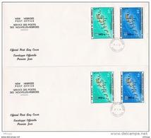 L4M142 NOUVELLES HEBRIDES 1979 FDC 1er Gouvernement Autonome 10,, 40 FNH Port Vila 11 01 1979 / 2 Envel.  Illus. - FDC
