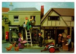 Ref 1328 - Super BBC Postcard - Trumpton Puppets - Activity Outside Miss Lovelace's Shop - Entertainment