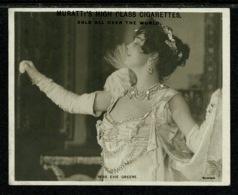 Ref 1329 - 1906 Midget Postcard Muratti Cigarette Card - Miss Evie Green - Actress & Singer - Entertainers