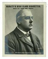 Ref 1329 - Midget Postcard Muratti Cigarette Card - Mr Rutland Barrington - Opera & Sport - Entertainers