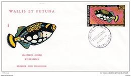 L4N071 WALLIS ET FUTUNA 1978 Poissons FDC Tbalistes Niger 26f Mata-Utu 31 01 1978 /envel.  Illus. - FDC