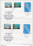 L4N102 NOUVELLES HEBRIDES 1976 FDC Constitutional Changes Evolution Des Institutions  Port Vila 29 06 1976/ 2 Envel.  Il - FDC