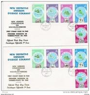 L4N105 NOUVELLES HEBRIDES 1977 FDC First Stamp Issue In FNH 5,20,50,100,200 FNH Port Vila 07 09 1977/ 2 Envel.  Illus. - FDC
