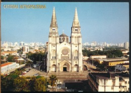°°° 14042 - BRASIL - FORTALEZA - VISTA AEREA DA CATEDRAL - 2000 With Stamps °°° - Fortaleza