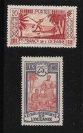 B16 - Poste 28** MNH De 1913 Et 91** MNH De 1939-49 - BORA BORA  - PECHEUR Et Travail De La NOIX De COCO - - Ozeanien (1892-1958)