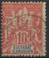 Anjouan (1900) N 14 (o) - Gebruikt