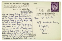 "Ref 1330 - 1967 Postcard - Ilfracombe - Good ""Are You Under-Insured"" Insurance Slogan - 1952-.... (Elizabeth II)"