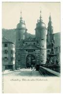 Ref 1330 - Early Postcard - Thor Der Alten Neckarbrucke - Heidelberg Germany - Heidelberg