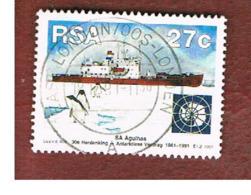 SUD AFRICA (SOUTH AFRICA) - SG 740  - 1991 ANTARCTIC TREATY: SHIP AGULHAS  - USED - Afrique Du Sud (1961-...)