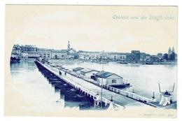 Ref 1331 - Early Postcard - Coblenz Und Die Schiffbrucke - Rhineland-Palatinate Germany - Koblenz