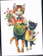 Chats Humanisé-dressed Cats -katzen - Poezen Met Bloemen- Repro - Katten