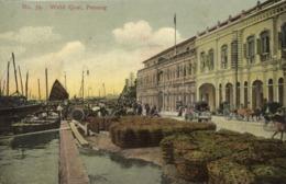 Straits Settlements, Malay Malaysia, PENANG, Weld Quai (1910s) Postcard - Malaysia