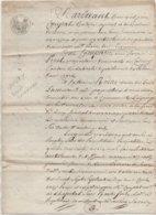 Savigny Boën Leigneux De 4 Pages 1813 - Manuscrits