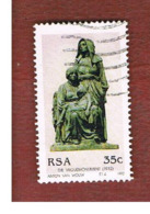 SUD AFRICA (SOUTH AFRICA) - SG 767 - 1992   A. VAN WOUW, SCULPTOR   - USED - Usati