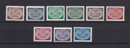 Generalgouverment - 1940 - Dienstmarken -  Michel Nr. 16/24 - Postfrisch - 15 Euro - Ocupación 1938 – 45