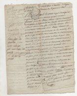Sainbel Rhône 1777 De 4 Pages - Manuscrits