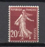 - FRANCE N° 139c Neuf ** MNH - 20 C. Brun-rouge Semeuse Camée 1907, Type IV - Cote 32 EUR - - 1906-38 Semeuse Camée