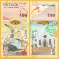Bermuda 50 Dollars P-61A 2009 UNC Banknote - Bermuda