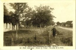 CPA DE SAINT-JEAN-DE-REBERVILLIERS  (EURE & LOIR)   LE POSTE SAINT-JEAN - ENTREE DU VILLAGE - Autres Communes