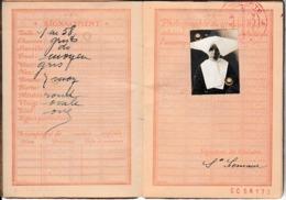 1934- PASSEPORT FRANÇAIS D'une Religieuse - Photo Avec Cornette - Documenti Storici